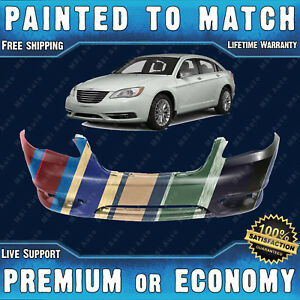 Painted To Match Front Bumper Cover For 2011 2012 2013 2014 Chrysler 200 Sedan
