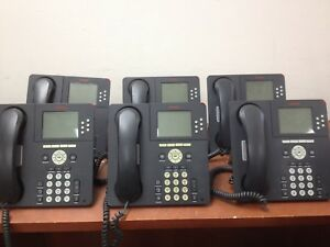 Lot Of 6 Avaya 9630g Voip Business Phones Ph587ds