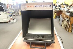 Rare Xerox Sentry Microfiche System Model 632 Microfilm Viewer Reader