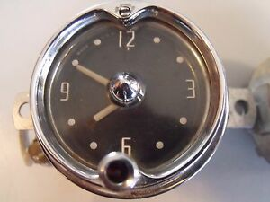 Vintage Old Antique 1952 Geo W Borg Clock 884755