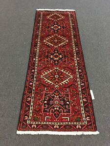 On Sale Hand Knotted Persian Ghahrajeh Geometric Runner Carpet 2 3 X6 7 3173