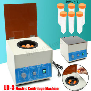 Ld 3 Electric Benchtop Centrifuge 4000r Lab Medical Practice Laboratory 6x50ml