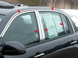 10pc Stainless Steel Window Trim Package Wp24800 For Kia Amanti 2004 2010