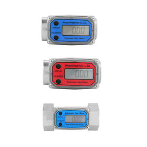 Digital Diesel Fuel Flow Meter 1 Electronic Turbine Flow Gauge
