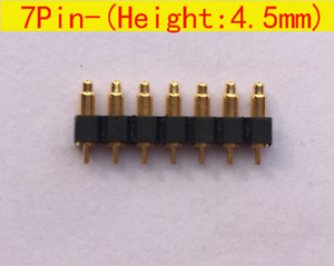 7pin 4 5mm Height Pitch 2 54mm Spring Loaded Pin Pogo Pin Connector 30pcs