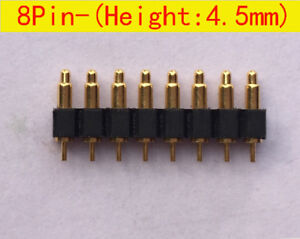 8pin 4 5mm Height Smd Pitch 2 54mm Spring Loaded Pin Pogo Pin Connector 30pcs