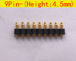9pin 4 5mm Height Dip Pitch 2 54mm Spring Loaded Pin Pogo Pin Connector 30pcs
