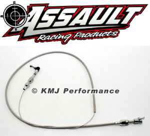36 Universal Throttle Cable Wire Assembly Braided Stainless Steel Cut To Fit