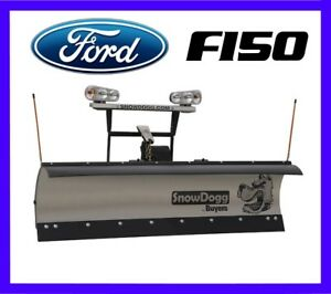 Ford F150 Snow Plow Snowdogg Md75 Reliable Strong Mid Weight 7 5 8 Available