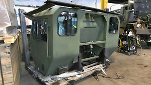 Military Truck Surplus Complete Dressed Cab Assembly Damaged As is Parts Repair