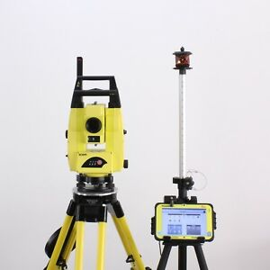 Leica Icon Robot 50 5 Icr55 Robotic Total Station Kit W Rugged Cc80 7 Tablet