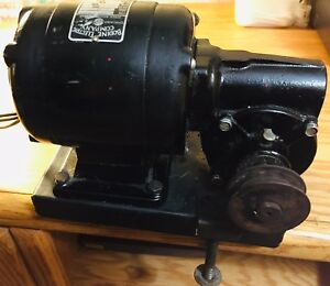 Bodine Electric Nsh 34rh Gear Motor Table Base Pulley Vintage 100 Tested
