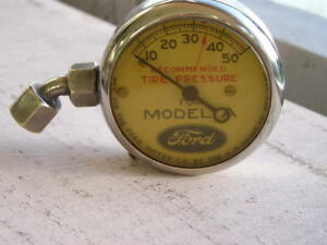 Very Nice Vintage Model A Ford Working Us Tire Gauge Antique Tool Kit Accessory