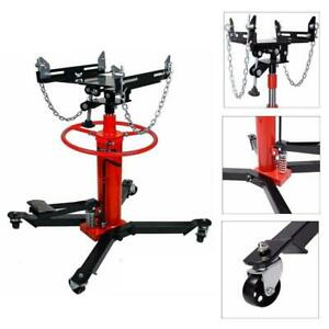 New 1100 Lbs 2 Stage Hydraulic Transmission Jack W 360 Swivel Wheels Lift Hoist
