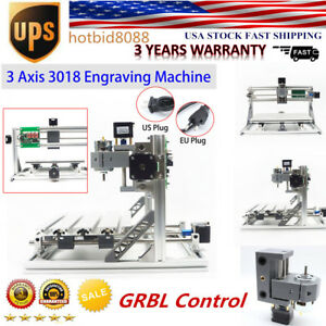 3 Axis Cnc Router 3018 Mill Wood Router Kit Engraver Pcb Milling Machine Us Hot