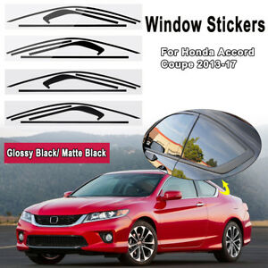 Window Trim Sticker Decals For Honda Accord Coupe 2013 2017 Blackout Overlay