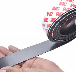 1m Self Adhesive Flexible Magnetic Tape Craft Magnet Strip 10x1mm 15x2mm 20x2mm