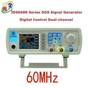 2018 Jds 6600 60mhz Dual channel Dds Function Waveform Signal Generator Counter