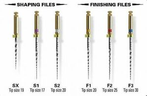 Maillefer Protaper Universal Niti Rotary Files 6 count 19mm sx 410u 19 sx