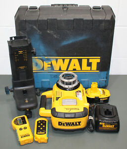 Dewalt Self Leveling Rotary Laser Level Kit Dw079 W 18v Battery