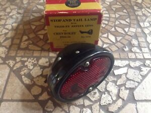 1933 34 Chevrolet Stop Tail Tag Lamp Doray No 1270 Vintage Auto Tiger ey Glass