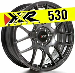 Xxr 530 17x7 4x100 4x114 3 35 Chromium Black Wheels Set Of 4