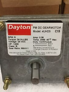Dayton Gear Motor 5 16 Shaft 9 24 Vdc Brand New 3 9 Rpm Reversible Reducer