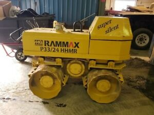 Rammax P33 24 Hhmr Walk Tow Trench Compactor Diesel Padfoot Roller Runs Great