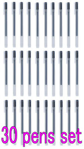 30pc Set Muji Gel Ink Ballpoint Pen Black 0 38mm Made In Japan with Tracking Nu