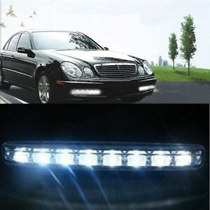 1pair White 12v 16 Led Daytime Running Drl Car Fog Day Driving Lamp Light Kit Us
