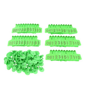 100 Pcs Numbered Ear Tag For Cow Cattle Pig Livestock Premium Tpu No Harm