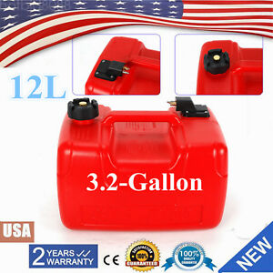 Portable Boat Fuel Tank 12l 3 2 Gallon Marine Outboard Fuel Tank W Connector Us