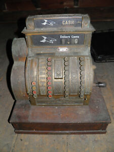 Antique National Cash Register Complete It Works Cosmetic Cleaning Needed