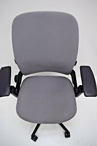 Steelcase Leap V2 Grey Fabric Fully Adjustable Certified Refurbished Aeron