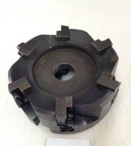 1 Used 4 Indexable Shell Mill lct 1007 Takes Apkt 1604 Inserts l351