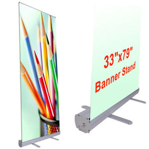 Professional 39 5 x79 Retractable Roll Up Display Banner Stand Trade Show Sign