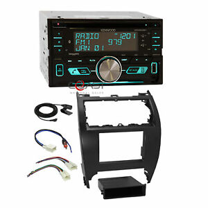 Kenwood Cd Ubs Sirius Bluetooth Stereo Dash Kit Harness For 12 14 Toyota Camry