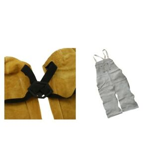 One Pair Cow Leather Soldering Sleeves Welder Apron Weld Protect Apparel