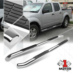 Chrome 3 Side Step Nerf Bar Running Board For 05 20 Nissan Frontier Crew Cab