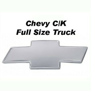 94 98 Chevy C K Full Size Truck Front Billet Grille Bowtie Emblem Smooth Polish
