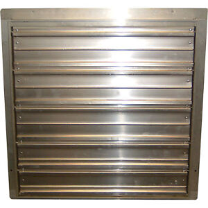 Tpi Commercial Exhaust Fan Shutters 36in ces 36