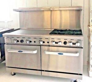 Atosa Ato 36g4b 60 Natural Gas Range 4 Open Burners And 36 Griddle