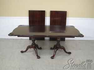 L24429ec Henkel Harris Ball N Claw Carved Mahogany Dining Table