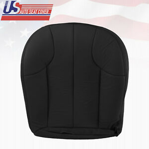 1999 2001 Jeep Grand Cherokee Driver Bottom Replacement Leather Seat Cover Black
