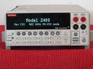 Keithley 2400 Sourcemeter W keithley Nist Calibration W New Display