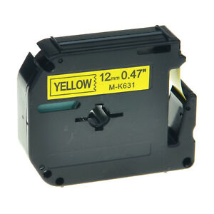 20pk M k631 Mk631 Black On Yellow Label Tape For Brother P touch Pt 55s 1 2