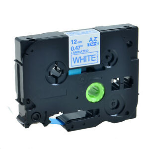 20pk Tz233 Tze233 Blue On White Label Tape For Brother P touch Pt 1280 0 47