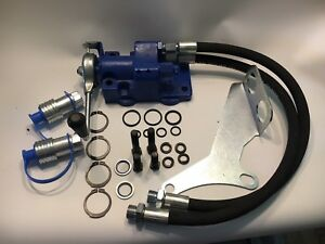 Remote Hydraulic Valve Kit For Ford Tractors Single Handle 2 Lines