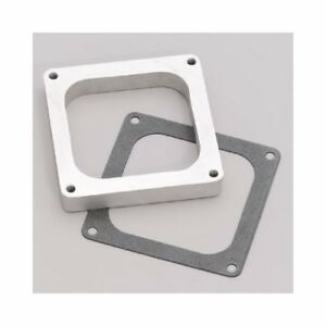 Edelbrock Carburetor Spacer 4 barrel Dominator 1 Aluminum Open 8717