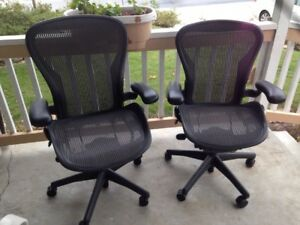 These Are Two Herman Miller Fully Loaded Posture Fit Size B Aeron Chairs